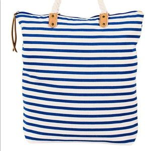 Summer & Rose Brittany tote bag blue and white